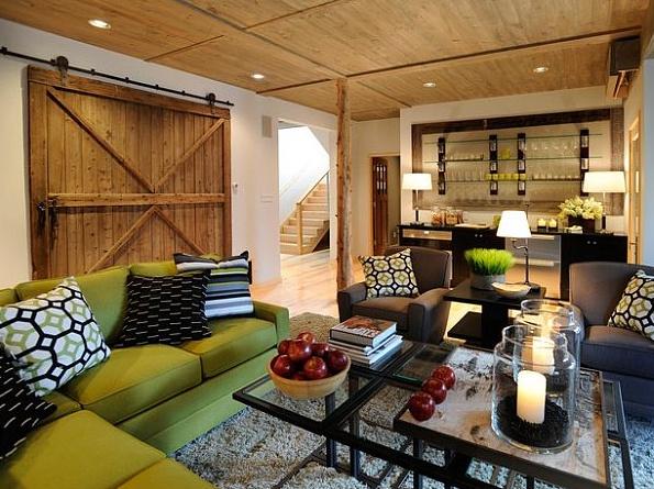 barn yard living: Ideas, Living Rooms, Barn Doors, Dream, Livingroom, Children, Barndoors, Family Room