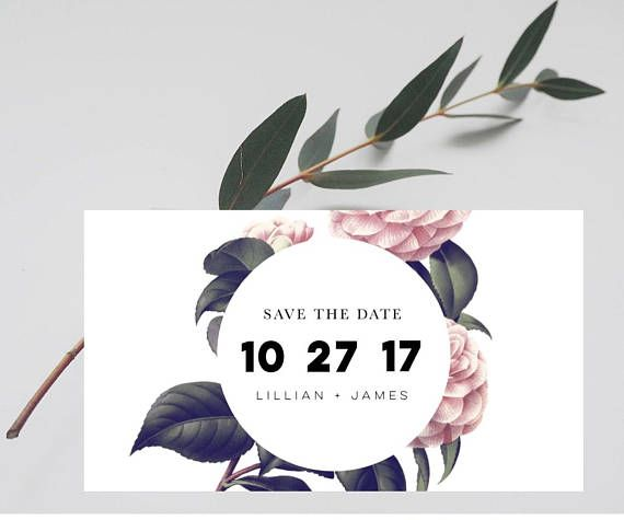 Modern Save the Date Postcard-Save the Date Magnet-Rustic Save the Date-Rustic Wedding-Save the Date Cards-Botanical Save the Date -------------------------------------------------------- These gorgeous botanical customised