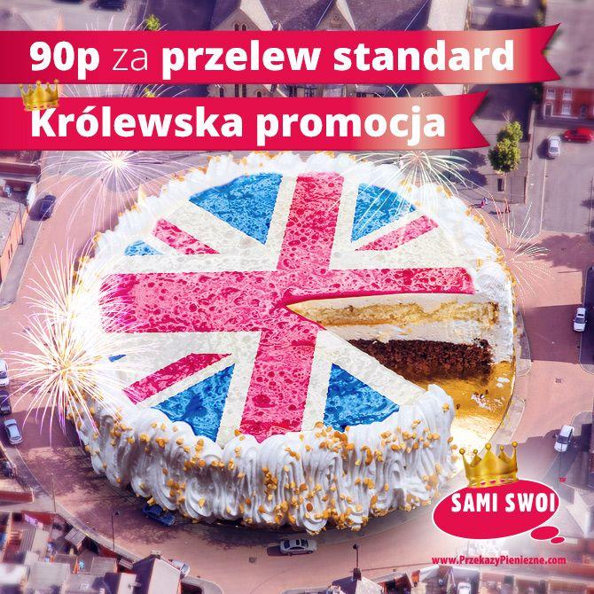 Z okazji urodzin Królowej - królewskie Happy Hours w samo południe Emotikon smile 90p za przekaz w aplikacji mobilnej Sami Swoi!  Pobierz aplikację tutaj:https://www.przekazypieniezne.com/przekazy-mobilne