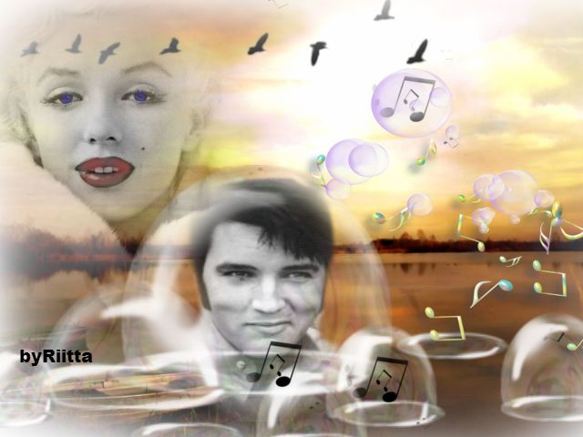 Elvis and marilyn creation byRiitta