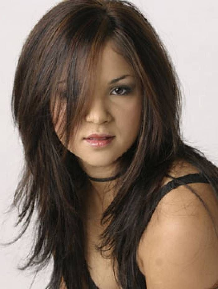 Emo Long Layered Hairstyles Emo Lon and trendy hair color