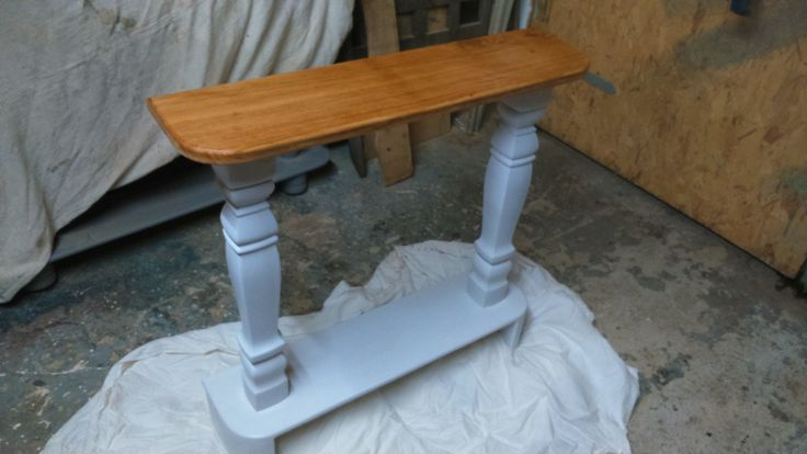 Custom order for Sharne in Balcombe, for a specifically sized ornate console table as a present for her Mum!  Oak from Hurstpierpoint blended with turned legs and Birch ply - finished in F&B 'Blackened White'.