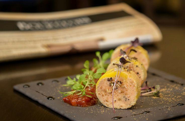 five spices foie gras torchon, namami tomatoes jam