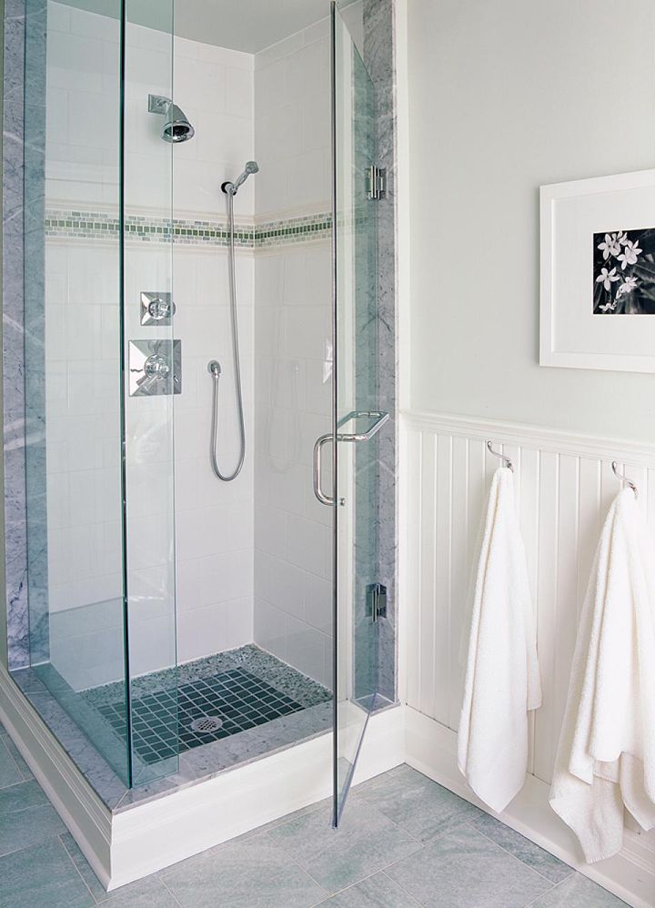 Coastal Bathroom Tile Ideas Part - 28: Large White Wall Tile Sarah Richardson Design Inc Season 2 Carolines  Bathroom