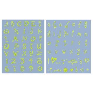 """1"""" Upper & Lower Case Alphabet Stencil - Sophie"""