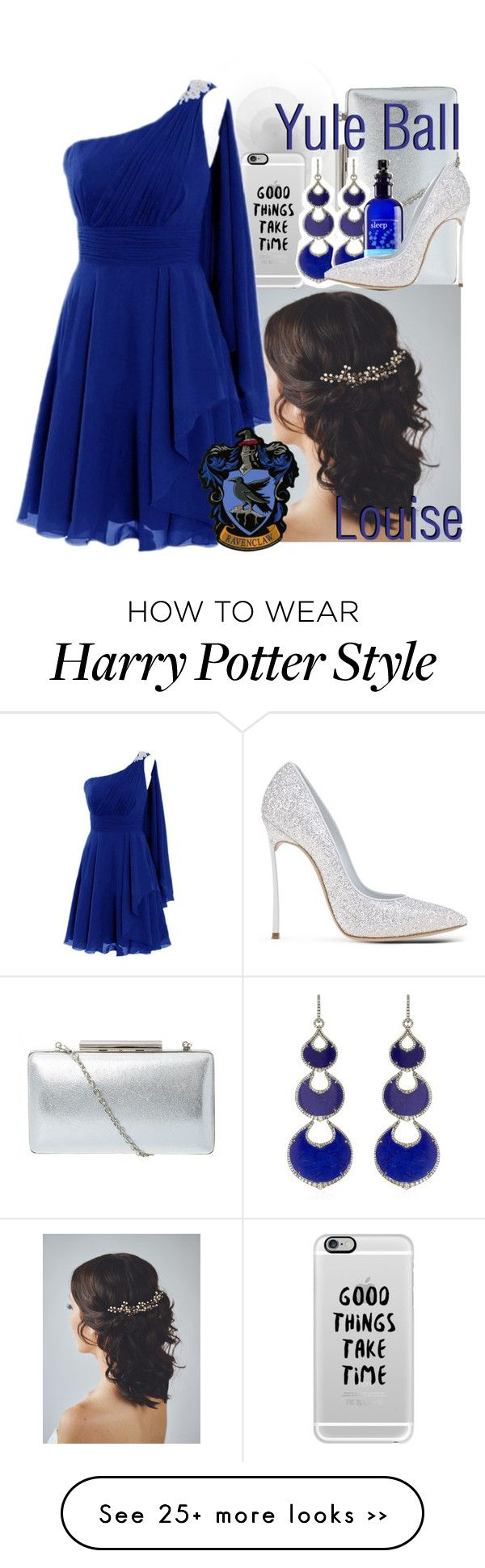 """Ravenclaw: Yule Ball (Louise)"" by potterzodiacs on Polyvore featuring Casetify, Annoushka and Casadei"