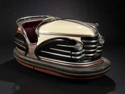 Vintage French Art Deco Fairground Bumper Car.   (La collection d'art forain de Fabienne et François Marchal)