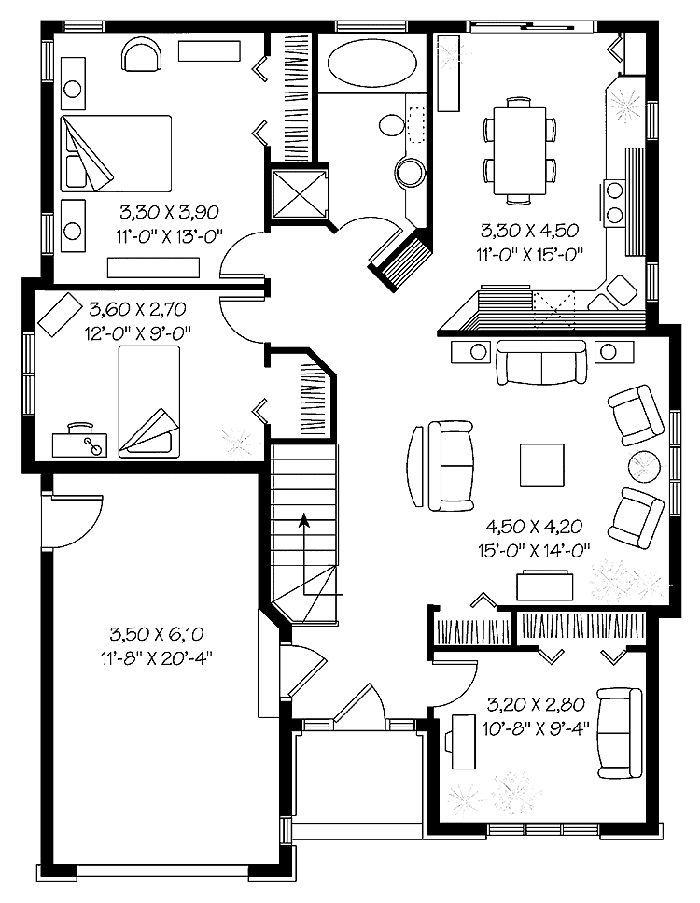 Casa sencilla de estilo contemporáneo | Planos de casas