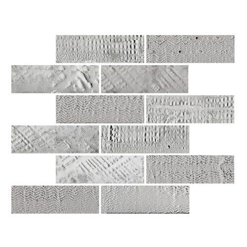 Konradssons Le Marais Grey Grå Brik Stavmosaik 26x26 cm