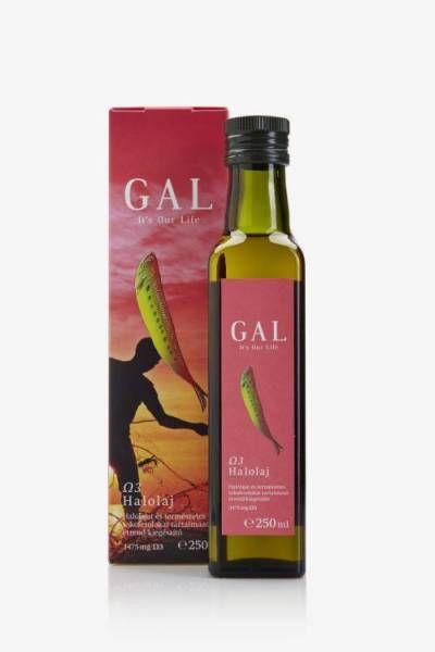 GAL Omega 3 Halolaj - Halolajat és természetes tokoferolokat tartalmazó étrend-kiegészítő. Tiszta és stabil, teljes spektrumú Ω3-zsírsavforrás. Összhangban a természettel. A termék jól hasznosuló, természetes formájában (és nem a mesterségesen átalakított etil-észterek formájában) tartalmazza az Ω3-zsírsavak teljes spektrumát, méghozzá koncentráltan, természetes tokoferolokkal (E-vitamin) együtt. Mindent úgy, ahogyan azok teljes értékű táplálékainkban is vannak.