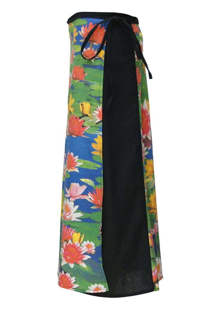 Art Wrap Skirt Lotus Pond