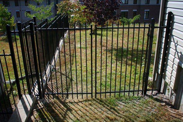 Manhattan Iron Double Gate  Fence-All