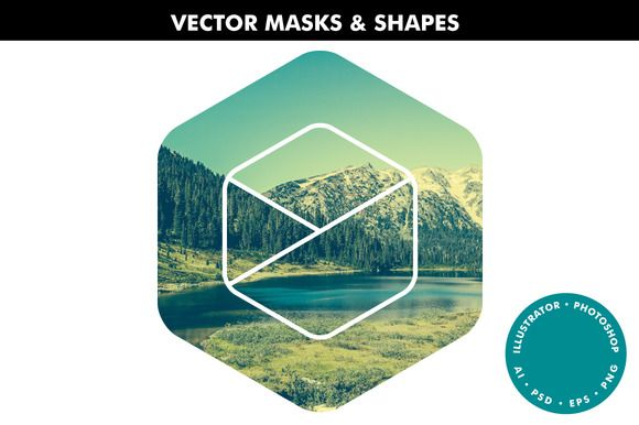 Vector Masks & Shapes - Ai & Ps by Offset on @creativemarket