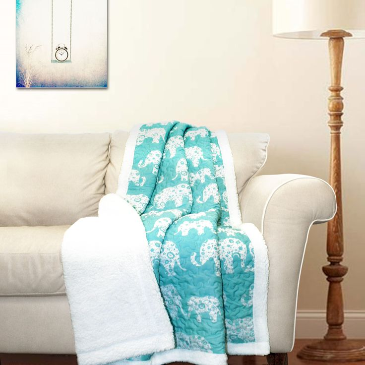 special edition by lush decor elephant parade sherpa throw blanket - Home Decoration Stuff