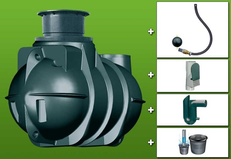 Cuve recuperateur eau Retention 2000 L