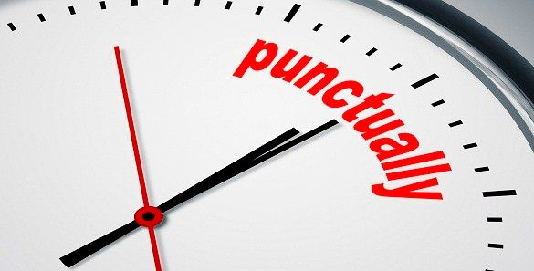 Punctuality is very important, especially in school or work. This also shows how trusworthy a person is.