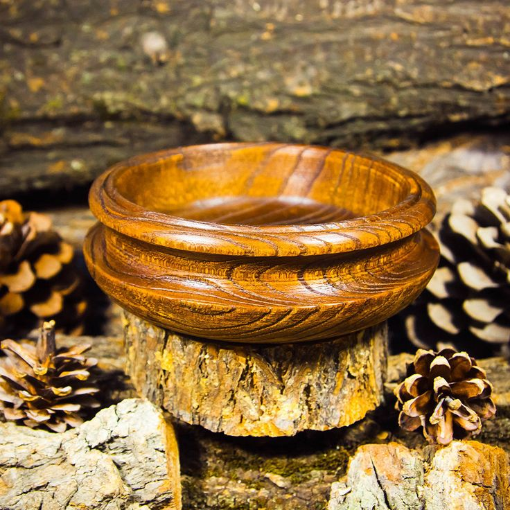 Vase wooden bowl handmade from Siberian elm wood #T10 by ArtOfSIberia on Etsy