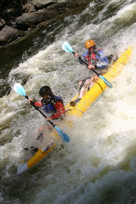 ...charge Maine's white water rapids in a kayak.