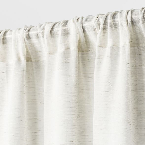 Light Filtering Curtain Panel Cream, Curtains 108 Inch Length