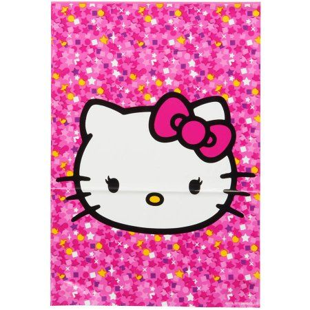 Hello Kitty Treat Bags, 8 Count, Party Supplies, Multicolor