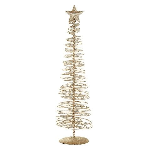 buy john lewis gold wire swirl christmas tree online at john lewis - Buy Christmas Tree Online