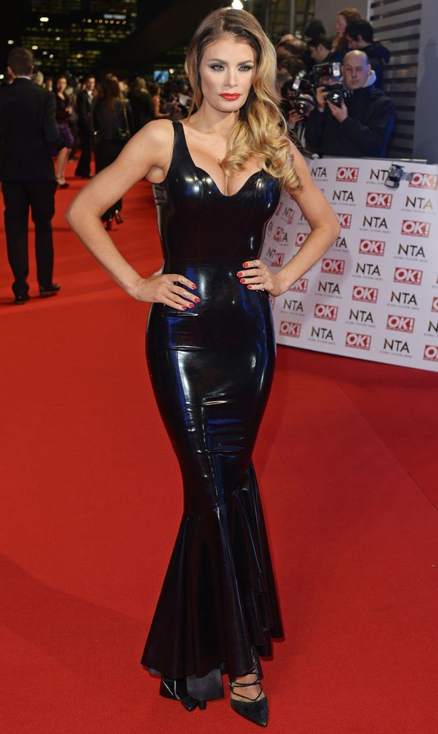 TOWIE's Chloe Sims squeezes into eye-watering rubber dress ...