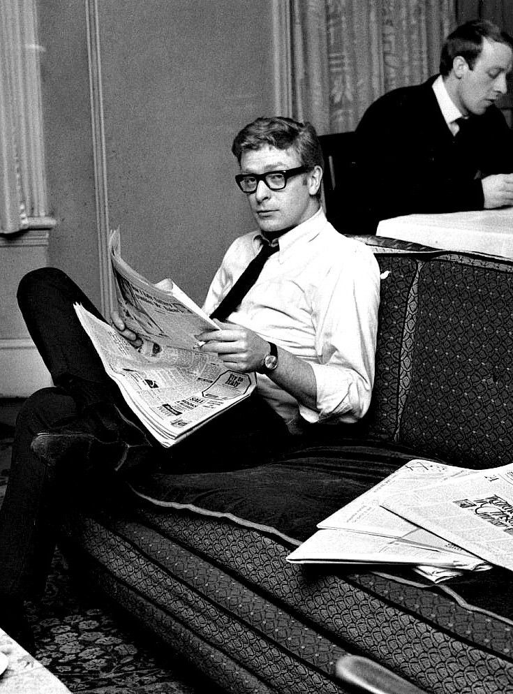 "A young Michael Caine in 1959. *** All I can think of is ""Austin Powers in Goldmember"" :-D"