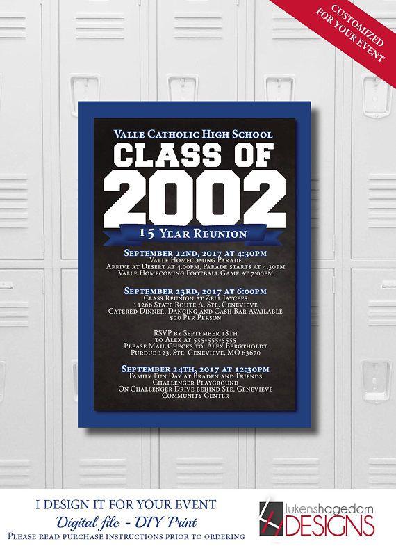 die besten 25+ klassentreffen einladungen ideen auf pinterest, Einladung