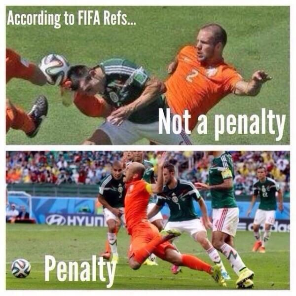 According to FIFA's refs... World Cup 2014, Mundial 2014