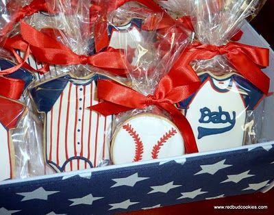 Baby Baseball cookies