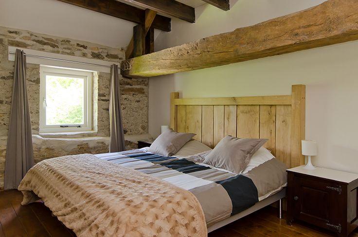 Tweepersoons slaapkamer vakantiehuis Normandië