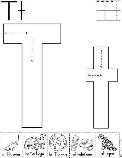 letra t fichas del abecedario y el alfabeto para descargar gratis para imprimir de niños