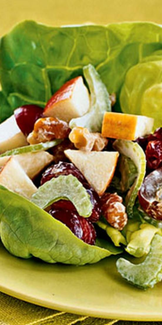 Updated Waldorf Salad  - Stick to low-purine fare, like that in the following recipes, to have a tasty meal without triggering a gout attack or making a flare-up worse.