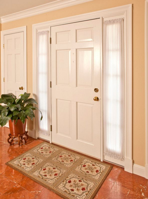 17 best ideas about sidelight curtains on pinterest for Front door curtain ideas
