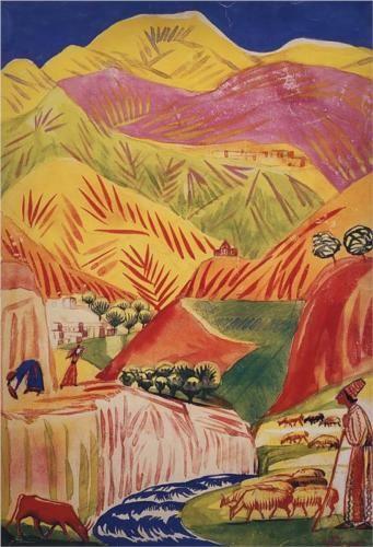 Flamboyant landscape - Martiros Saryan 1933