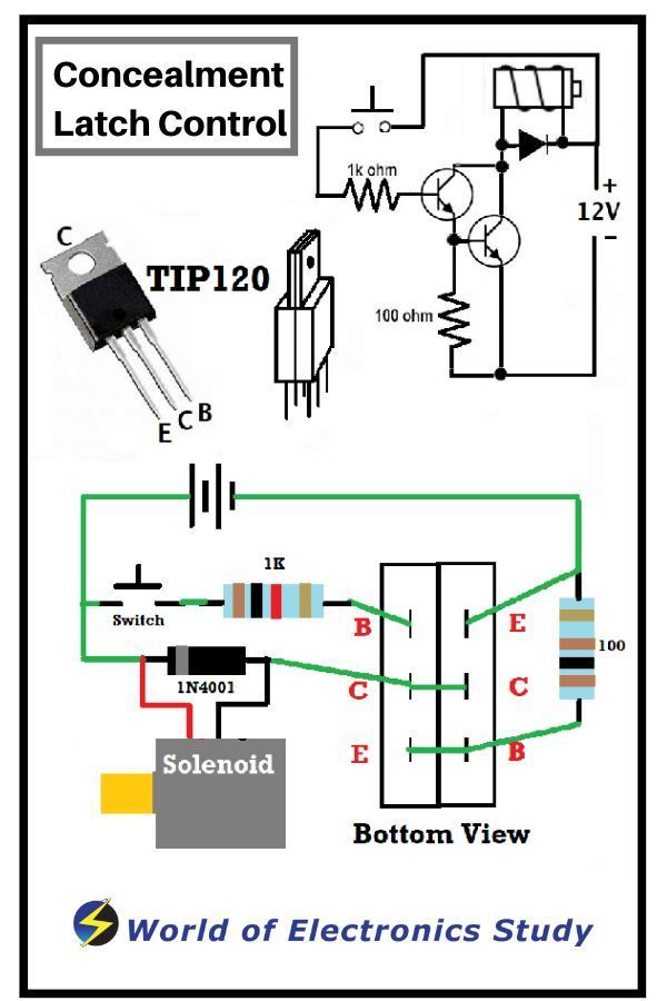 Concealment Solenoid Controller Electronic Circuit Projects Electronics Circuit Electronic Schematics