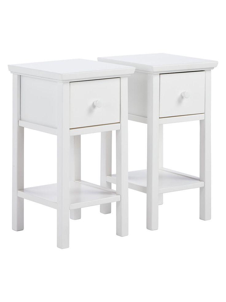 Grey Bedside Tables: John Lewis & Partners Wilton Bedside Tables, Set Of 2