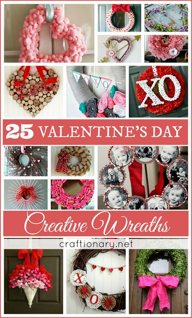 Great list of cute and adorable valentines day wreaths #valentinesday #wreaths