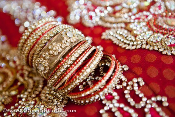 Red and gold bridal jewelry!