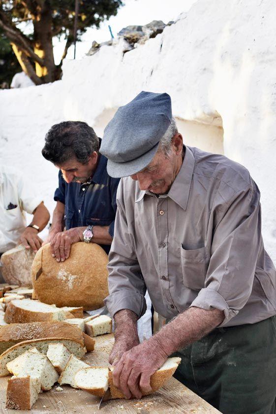 Traditional bread in Amorgos, Greece