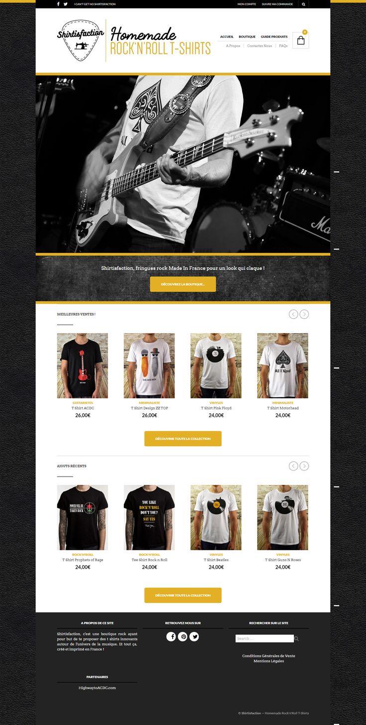shirtisfaction.fr, built with The Retailer WordPress theme  https://themeforest.net/item/the-retailer-responsive-wordpress-theme/4287447?utm_source=pinterest.com&utm_medium=social&utm_content=shirtisfaction&utm_campaign=showcase #wordpress #woocommerce #shop #online #templates #themes #tshirts