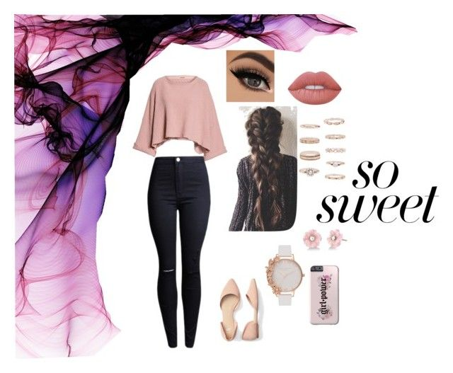 """""""."""" by patriivasca on Polyvore featuring Free People, Lime Crime, Forever 21, Olivia Burton and Irene Neuwirth"""