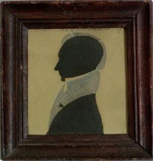 Double Cut Silhouette of Joseph Parker
