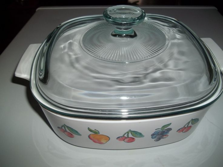 Corning Ware Set of 3- 1 Quart & 1 1/2 Quart, and 2 Quart Fruit with Pyrex Lids by PyrexKitchen on Etsy