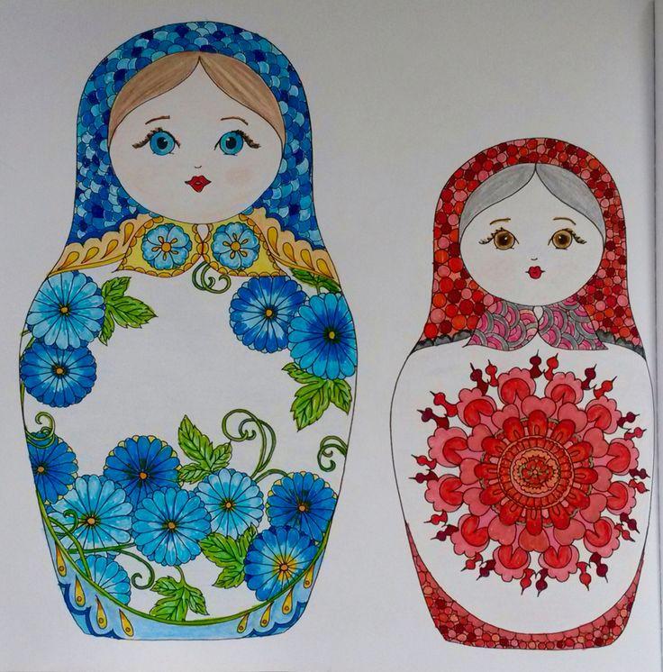 Matriosjka poppetjes uit mijn wonderlijke wereld-Margreet