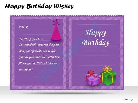 happy birthday wishes powerpoint presentation slides Slide05