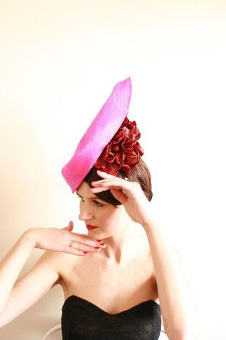 """Natalie Chan Couture millinery, """"Mirada"""""""