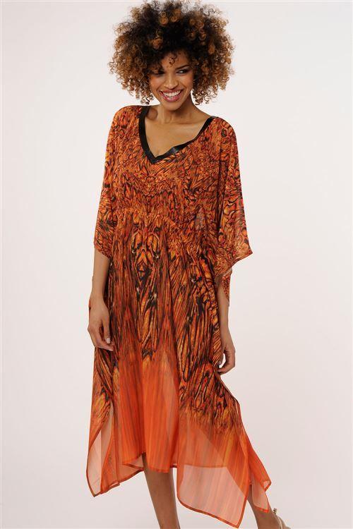 #pareo #beachwear #dress #orange