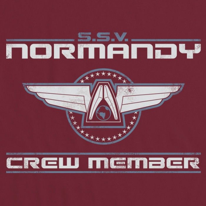 Inspired by Mass Effect t-shirt - Normandy | Computer & Games ...