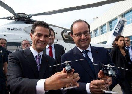 """Era uno de los puntos culminantes del viaje de Estado de Enrique Peña Nieto a Francia: la compra de helicópteros Súper Puma, modelo Caracal, a la empresa franco-germana-española Airbus Helicopters.  Pero ahora todo es incierto y parece que los helicópteros no formarán parte de los contratos firmados entre Francia y México que se anunciarán este jueves 16 a la prensa, admitió una fuente cercana al Ministerio de Defensa francés. """"Sí hay negociaciones desde hace meses, pero también hay mucho…"""